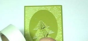 Craft elegant origami Christmas tree cards