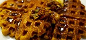 Make delicious pumpkin waffles for fall brunch