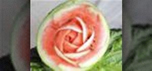 Carve a watermelon into a party centerpiece