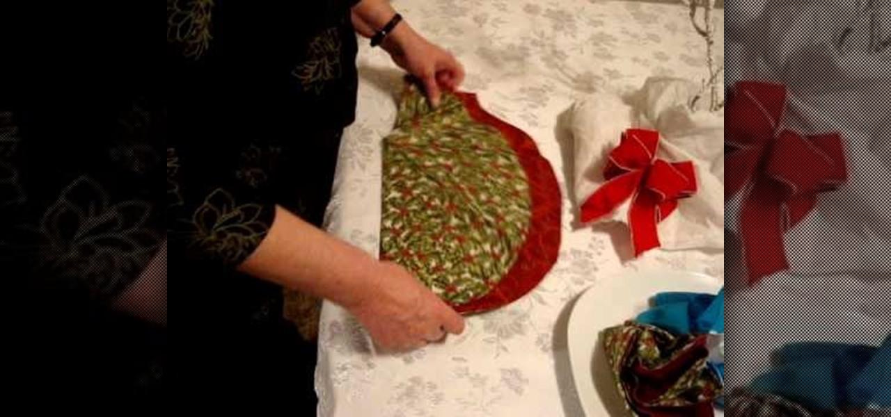 how to fold a napkin into a christmas tree christmas ideas wonderhowto