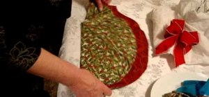Fold a napkin into a Christmas tree