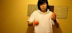 Juggle three balls in chops