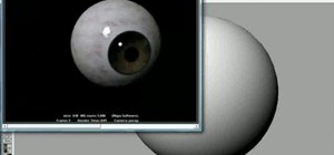 Model realistic 3D eyeballs in Maya 7 or later