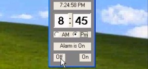 Program an alarm clock in Visual Basic
