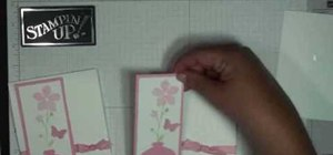 Make a flower vase card with Stampin' Up!