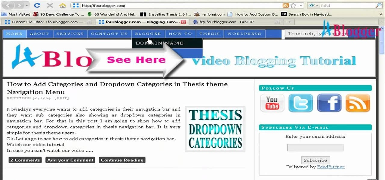 thesis theme banner ad header If you've been a theme developer (or even a tweaker) for any length of time, you will know how important it is to use a child theme when building upon an existing theme (rather than creating your own from scratch) the issue is mainly with updates if you make changes to a theme's files (ie anything within.