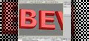 Make 3D beveled text in 3ds Max