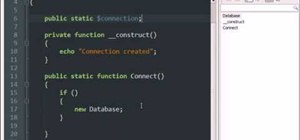 Use a singleton pattern in PHP programming