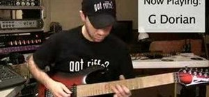 Play Carlos Santana-style Dorian progressions