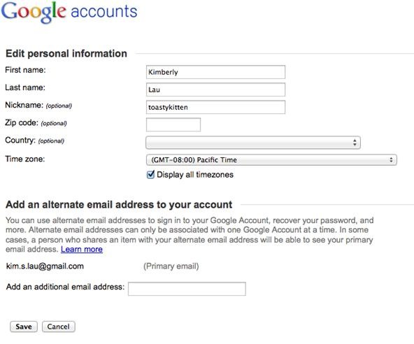 how to edit your google account settings google insider s guide