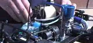 Stop a nitro engine on a remote control car