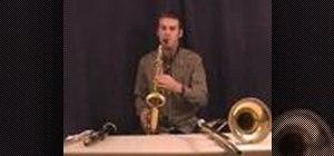 Begin playing saxophone