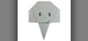 Origami an elephant face Japanese style