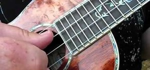 "Play ""Turn Around"" by Kenny Loggins on the ukulele"