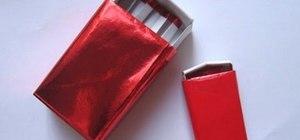 Origami a matchbox
