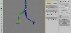Animate a basic walk cycle for a biped in 3ds Max