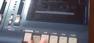 Use a Tascam Ministudio Porta 02 4-track recorder