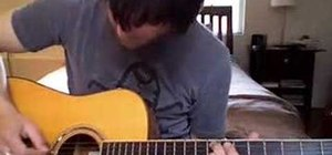 """Play """"Paranoid Android"""" by Radiohead on the guitar"""