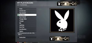 Recreate the Playboy Bunny logo in the Black Ops emblem editor