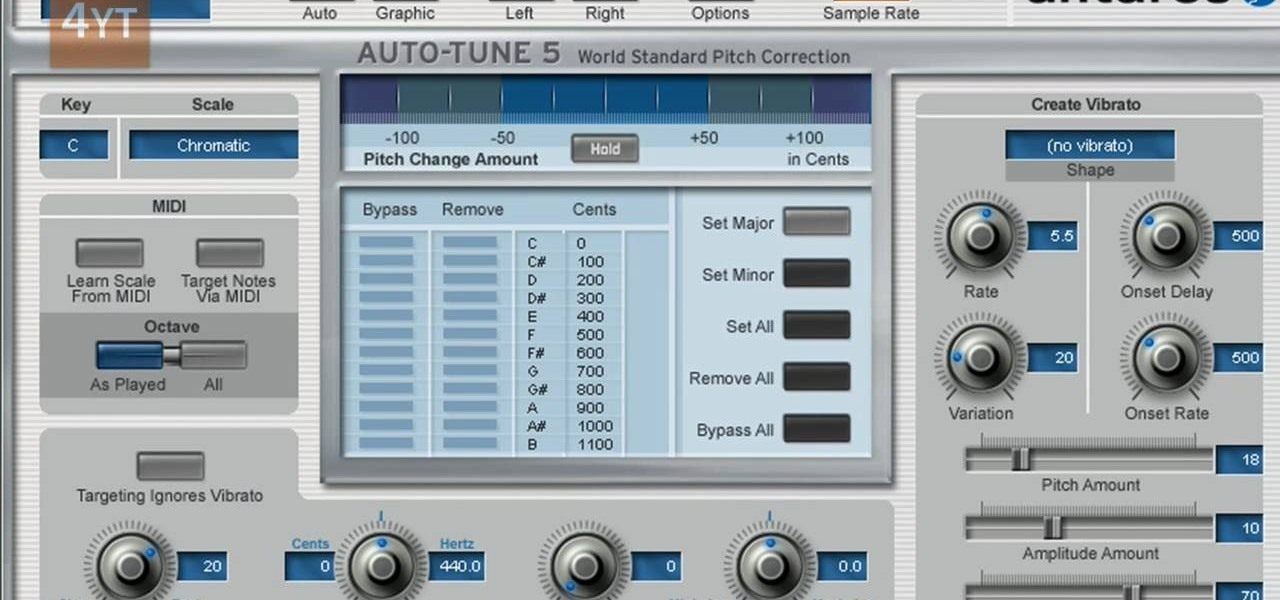 how to do the auto tune effects with mixcraft software tips