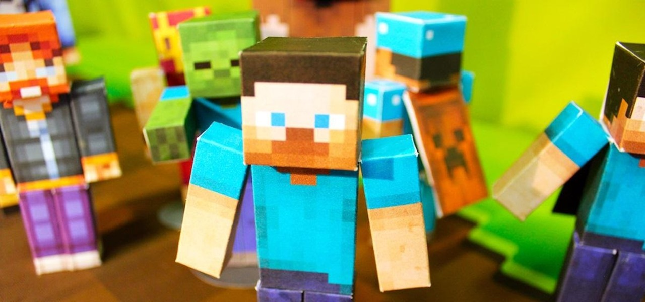 How To Design And Print Tiny Papercraft Models Of Your Favorite - Minecraft skins fur iphone