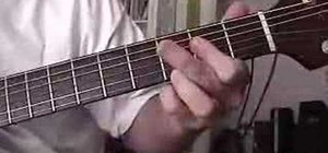Fingerpick a standard blues riff