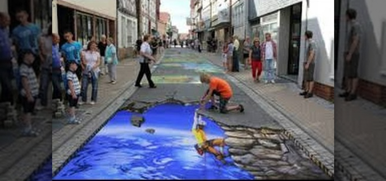 3d murals art graffiti urban art wonderhowto for 3d street painting mural art
