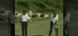 Extend your golf club away from your body
