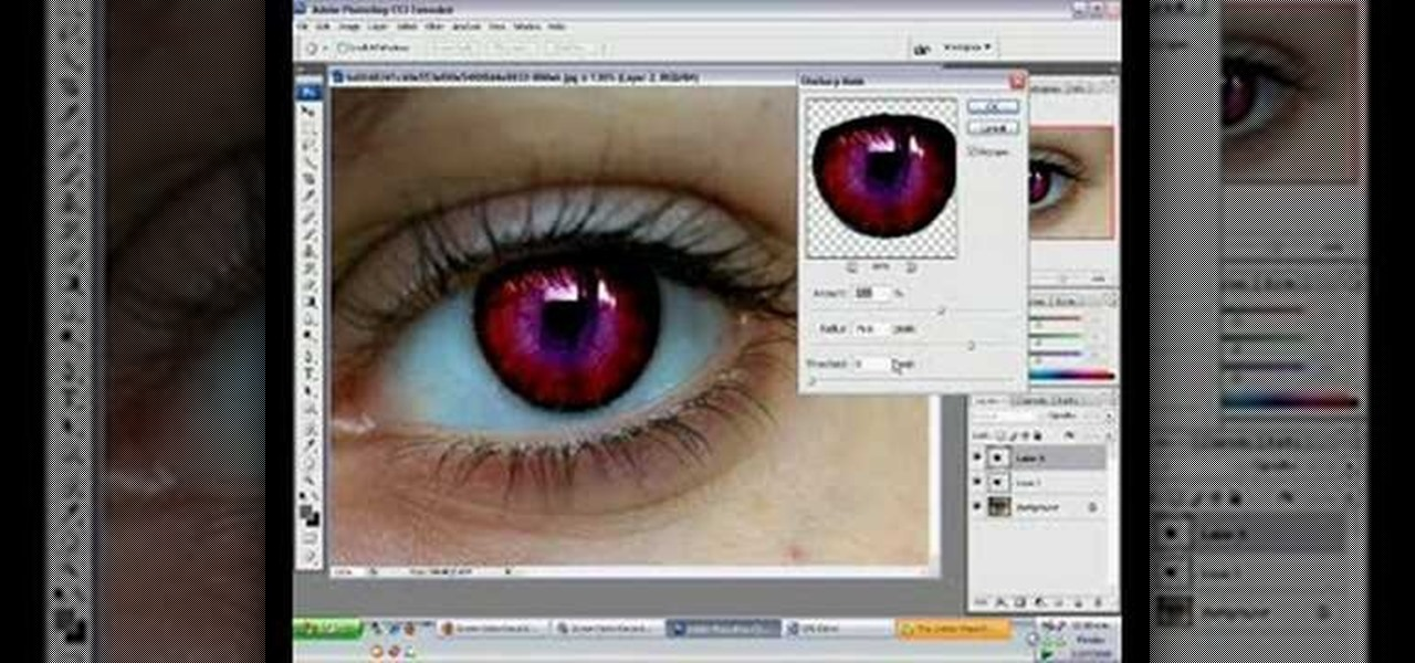 How to Use Photoshop CS3 to change the color of someone's eye ...