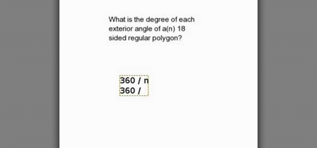 How To Find Measure Of An Exterior Angle Of A Regular Polygon Math Wonderhowto