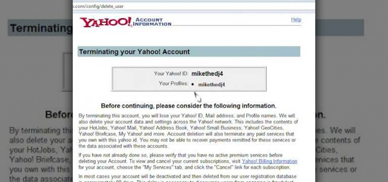 How to Delete a Yahoo account « - 258.2KB