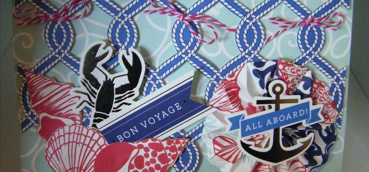 Make a Seafarer Rope Cut Collective Card