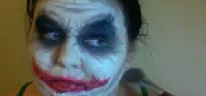 Do the Joker's makeup from The Dark Knight