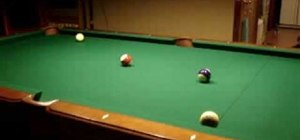 Do the mirror bank pool trick shot