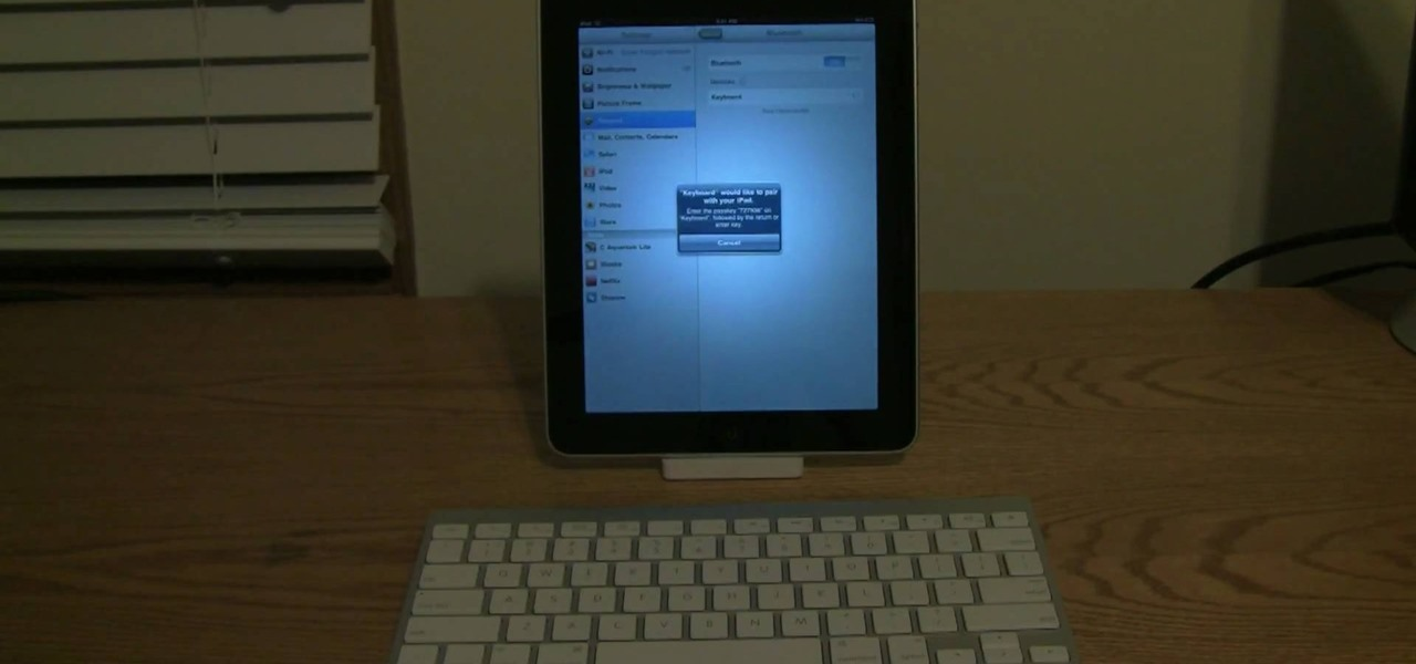 how to connect an apple wireless keyboard to the ipad tablets. Black Bedroom Furniture Sets. Home Design Ideas