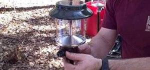 Use a propane tree to operate a camp stove and light