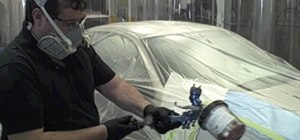 Apply and spray primer surfacer on your car