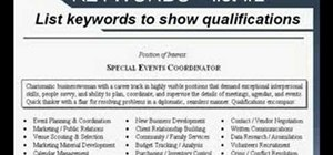 Write a resume using strong language and keywords