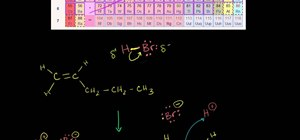 Use Markovnikov's rule with carbocations in organic chemistry