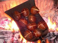 how to cook chestnuts on a fire