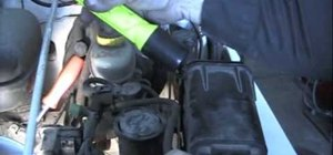Use a smoke machine to find an evap leak in a car