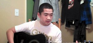 """Play """"Grenade"""" by Bruno Mars on guitar with a capo"""