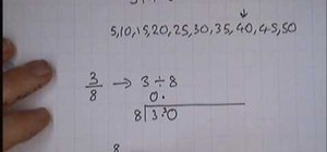 Change fractions to decimals
