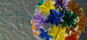 Make an origami Kusudama Venus