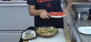 Make Mediterranean Kafta bil Sanieh (beef in a pan)