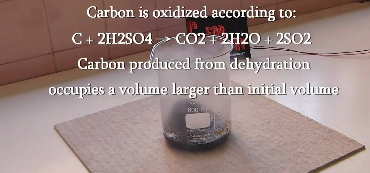 How To Make Charcoal Carbon By The Dehydration Of Sugar Science