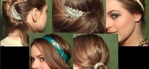 Create several beautiful formal hairstyles and bedazzle them with pins