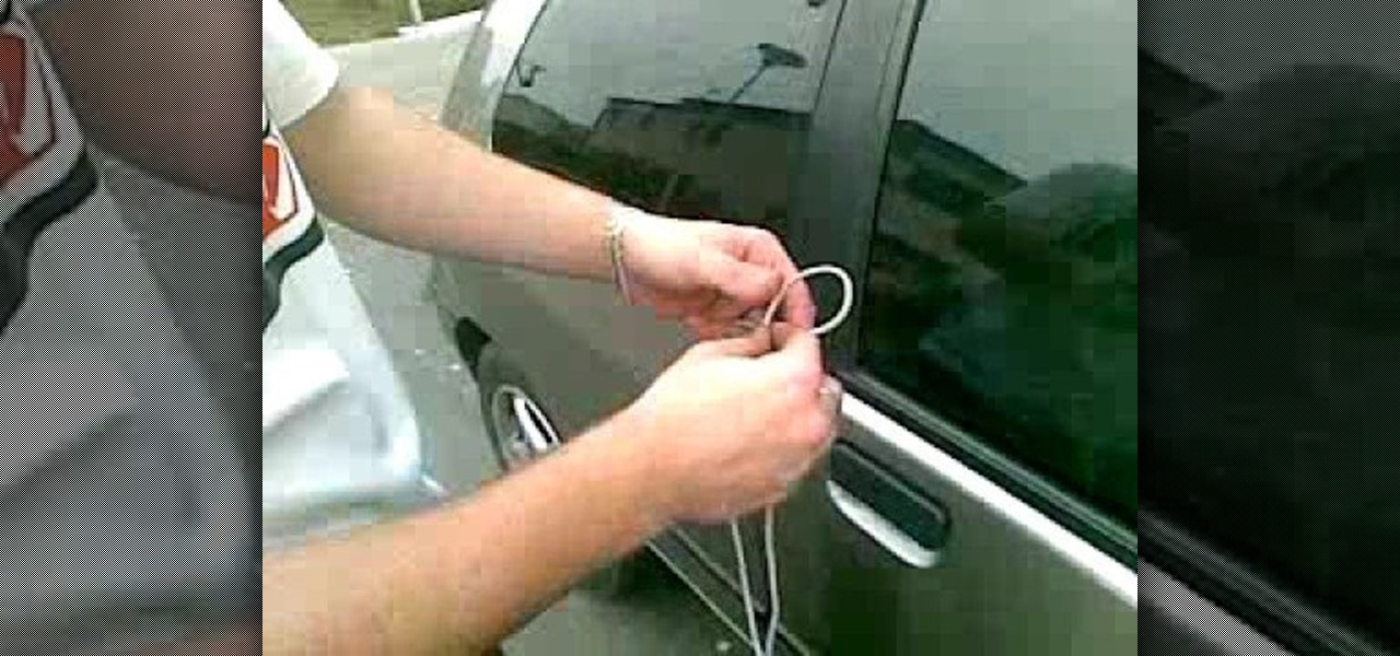 How To Unlock Your Car Door With A Shoelace In 10 Seconds