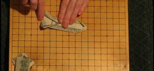 Make an origami shirt out of a dollar bill