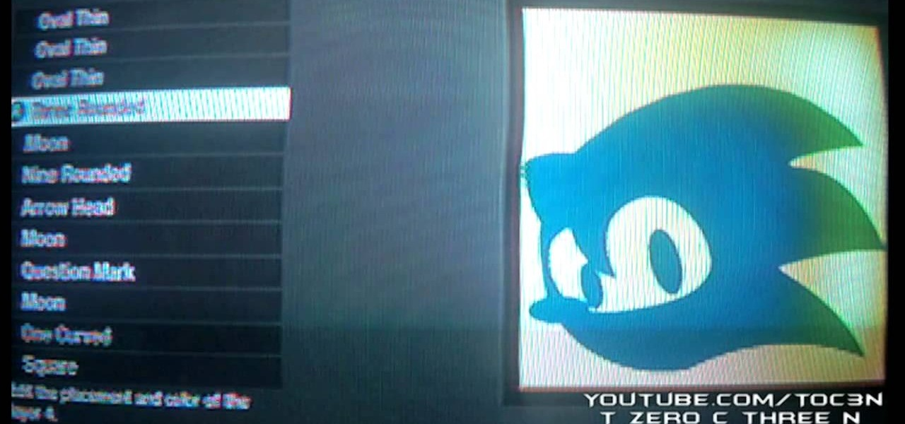 How To Create A Sonic The Hedgehog Playercard Emblem In Call Of Duty Black Ops Xbox 360 Wonderhowto